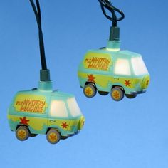 """Free Shipping. Buy Set of 10 Scooby Doo """"The Mystery Machine"""" Van Novelty Christmas Lights - Green Wire at Walmart.com"""