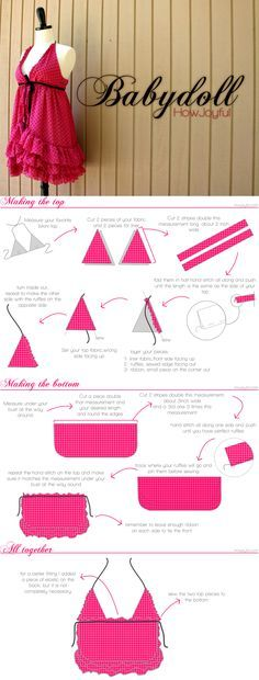 Easy tutorial for a baby doll nighty from How Joyful