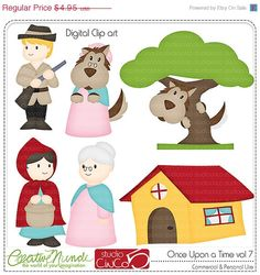 BLACK FRIDAY 50% OFF Once Upon a Time vol 7 - Digital Clip Art , Commercial Use Clipart, Scrapbook, Printable - Instant Download