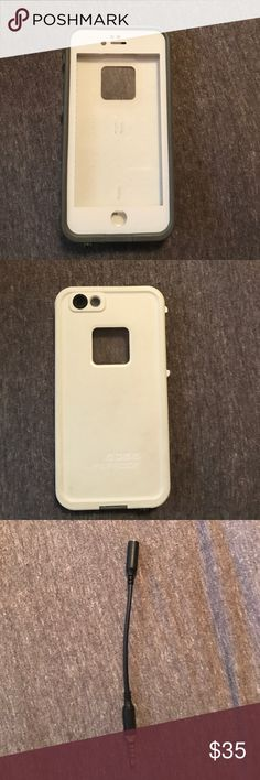 iPhone 6s lifeproof case iPhone 6s lifeproof case. Wasn't used for very long mostly just for a vacation out of the country. The white isn't stark white anymore but it's not very noticeable other than that it's in good condition. I will also include the headphone adapter. LifeProof Accessories Phone Cases