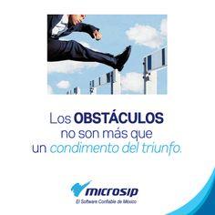 Los obstáculos no son más que un condimento del triunfo.