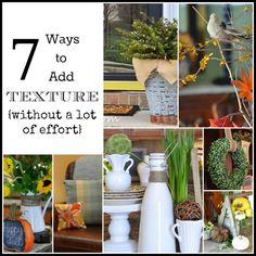 7 Easy Ways To Add Texture To A Room {Without A Lot Of Effort} - Worthing Court