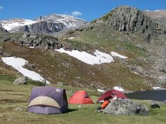 Camp at Mistymoon and Cloud Peak in the background