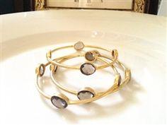 Smoky Quartz Bangles #bangles #smoky quartz jewelry #bracelets