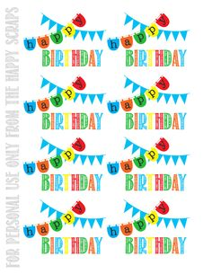 Happy Birthday Printable Tags At Thehappyscraps Classroom Gifts Student