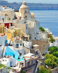 Firá, Santorini, Greece ♡