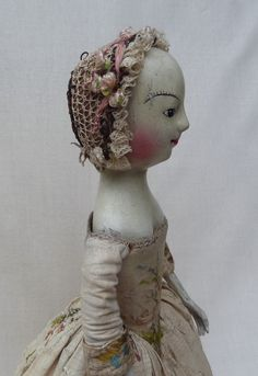 Repro 17th century English wooden doll