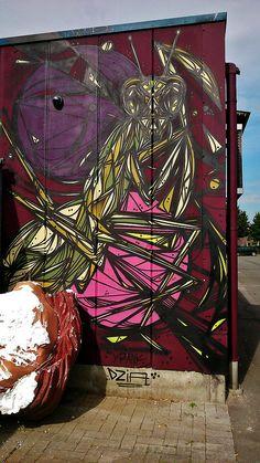 Mantis Mural, Street Art. | Carnavalwerkhallen - Aalst