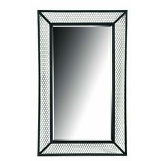 'Cozy' Black/ Silver Wall Mirror | Overstock.com Shopping - Great Deals on Mirrors