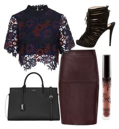 Untitled #31 by marilisatallerico on Polyvore featuring polyvore fashion style Topshop Christian Louboutin Yves Saint Laurent clothing