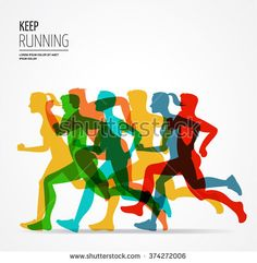 Illustration about Running marathon, people run, colorful poster and background. Illustration of poster, pink, refraction - 66421322 Marathon Logo, Marathon Posters, Marathon Running, Running Posters, Vbs Themes, People Running, Running Women, Running Club, School Logo