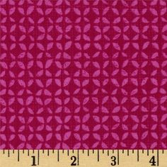 Timeless Treasures Field Study Mini Geo Berry from @fabricdotcom  Designed by Alice Kennedy for Timeless Treasures, this cotton print is perfect for quilting, apparel and home decor accents.  Colors include pink and magenta.