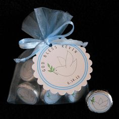 Personalized Hershey Kiss Baptism Favor Set by susiedees on Etsy