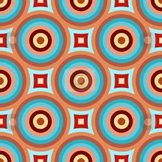 Abstract retro pattern stock photo, Colorful abstract retro patterns geometric design wallpaper background by Kheng Guan Toh Geometric Patterns, 60s Patterns, Tile Patterns, Abstract Pattern, Pattern Art, Textures Patterns, Color Patterns, Print Patterns, Print Wallpaper