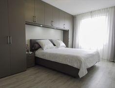 Bedroom Storage For Small Rooms, Bedroom Built Ins, Small Master Bedroom, Bedroom Closet Design, Home Bedroom, Transforming Furniture, Duplex House Design, Bedroom Cupboards, Build A Closet
