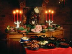 A classic Swedish Christmas table. #sweden #food kanon-and-sweden home