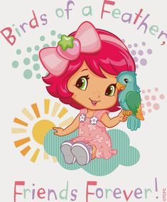 Baby Strawberry Shortcake: Birds of a Feather, Friends Forever Bird Pictures, Pictures To Draw, Cute Pictures, Strawberry Shortcake Characters, Strawberry Shortcake Party, Baby Shower Clipart, Kids Pjs, Disney Princess Ariel, Cute Images