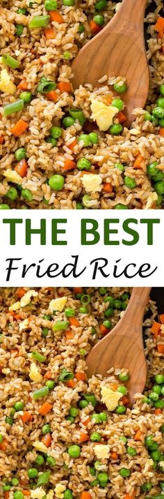 The BEST Fried Rice. This fried rice is loaded with veggies and only takes 20 minutes to make! The BEST Fried Rice. This fried rice is loaded with veggies and only takes 20 minutes to make! Vegetarian Recipes, Cooking Recipes, Healthy Recipes, Fried Rice Recipes, Veggie Fried Rice, Recipes With Rice, Tasty Fried Rice, Fried Rice Recipe Chinese, Best Fried Rice Recipe