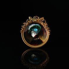 An enamelled miniature France, Napoleon III