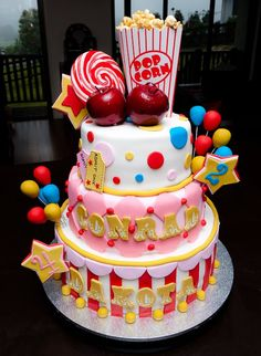 Carnival Cake ***My favorite one. Ezra's name could go first, then Ava's***