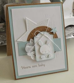 Made by sandra: hoera een baby! Baby Boy Cards, New Baby Cards, Baby Shower Cards, Mom Cards, Kids Cards, Cute Cards, Baby Scrapbook, Scrapbook Cards, Cuadros Diy