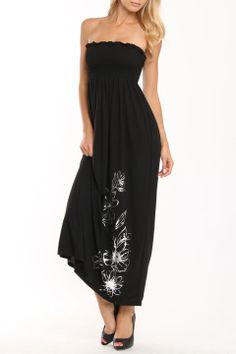 fashion instincts Rebecca Maxi Dress In Black - Beyond the Rack