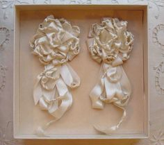 ivory silk lingerie pins c.1920s
