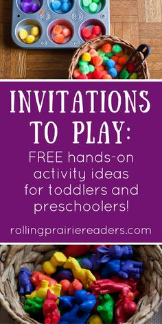 Invitations to Play | FREE Activity Downloads