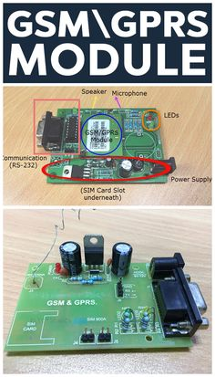 GSM GPRS Module is a communication device that allows a host (like a microcontroller) to get connected to GSM Network. What is GSM,GPRS,AT Commands,Syntax Electronic Dice, Diy Electronic Kits, Electronic Engineering, Diy Electronics, Electronics Projects, Arduino Lcd, Watch Diy, Diy Case, Circuit Diagram