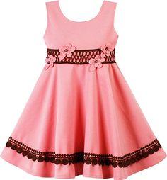 Amazon.com: Sunny Fashion HF65 Girls Dress Princess Worsted Winter Warm Pink Size 10: Clothing