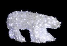 Medveď polárny - 1180mm x 650mm - LED - OPMS-01-L