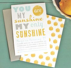 You Are My Sunshine Birthday Party Printable by oliveandiris, $25.00