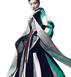 """Du Juan in """"Out Coat"""" by Yin Chao for Vogue China, November 2014"""