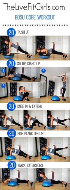 An abs and back workout using the bosu! Bosu Core WorkoutAn abs and back workout using th