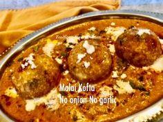 No Onion No Garlic Malai Kofta Curry – Food, Fitness, Beauty and More Holi Recipes, Indian Food Recipes, Ethnic Recipes, Garlic Recipes, Curry Recipes, Malai Kofta Curry, Curry Food, American Kitchen, Entrees