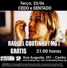 """Quem se apresenta nesta terça, 23, no Studio SP é a mineira, de Belo Horizonte, Raquel Coutinho. Cantora, compositora e percussionista, começou sua carreira aos 22 anos, quando ganhou de aniversário um pandeiro, um tambor e um convite para integrar o trio de percussionistas de Mauricio Tizumba, com quem toca há 10 anos. A partir...<br /><a class=""""more-link"""" href=""""https://catracalivre.com.br/geral/agenda/barato/mineira-raquel-coutinho-lanca-disco-no-studio-sp/"""">Continue lendo »</a>"""