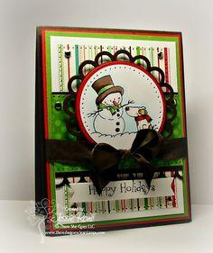 Happy Holidays-Walnut Vintage Seam Binding