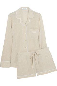 Equipment|Lillian washed-silk pajama set|NET-A-PORTER.COM