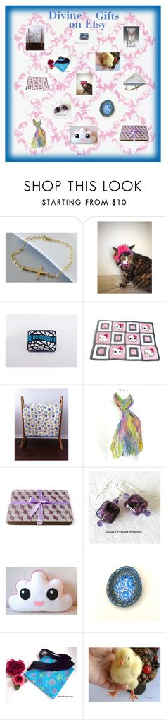 """""""Etsy gifts for Mom"""" by glowblocks ❤ liked on Polyvore featuring Hello Kitty"""