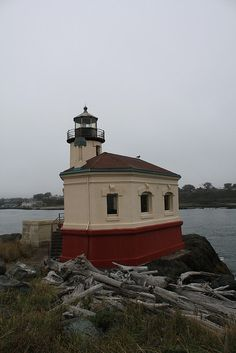 Coquille River Lighthouse, southern Oregon coast
