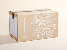 Boxes designed by Aaron Bloom. Connect with them on Dribbble; Photography Packaging, Kraft Packaging, Packaging Ideas, Food Packaging Design, Ginger Beer, Fresh Ginger, How To Make Beer, Shipping Boxes, Layout