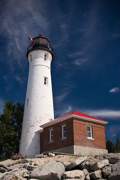 Crisp Point Light Upper Peninsula, Michigan