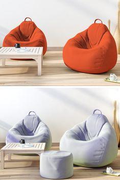 Wonderful Bean Bag Chairs Ideas — Home Design Ideas Bean Bag Room, Bean Bag Living Room, Living Room Sets, Living Room Chairs, Dining Room, Futons, Orange Bean Bags, Modern Bean Bags, Bean Bag Furniture