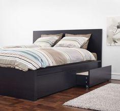 Bedroom Sets Ikea ikea malm- i like the white sheets on black bedframe