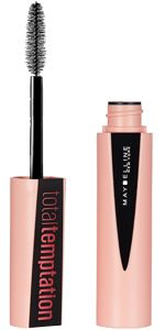 Give in to Total Lash Temptation! Build on bold volume to create irresistibly soft, separated, and dense lashes coat after coat. Features a creamy and whipped formula infused with coconut extract. Blinc Mascara, Maybelline Mascara, Fiber Lash Mascara, Fiber Lashes, Maybelline Superstay, Best Drugstore Mascara, Mascara Tips, Drugstore Beauty, Big Shot