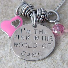 Image detail for -the Pink in his World of Camo Necklace, Wire-N-Whimsy