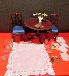 American Girl Doll Felicity's Table & Chairs & More 30 Pieces accessories Rare #AmericanGirl #Dolls #Doll #Felicity #FelicitysTable&Chair #30PieceSet #DollUtensils #glassware #dandeepop Find me at dandeepop.com