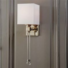 "20"" t x 6"" w South Shore Decorating: Globe Transitional Crystal Wall Sconce - XDAR-5886-4 $300"