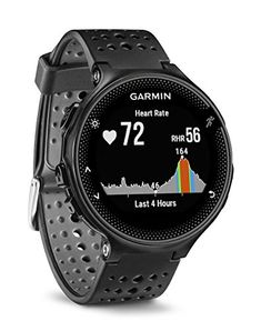 Garmin Forerunner 235 GPS Running Watch with Elevate Wrist Heart Rate and Smart Notifications - Black/Grey Relojes GPS Running Gps, Running Watch, Running Training, Trail Running, Running Wear, Smartwatch, Fitness Watches For Women, Watches For Men, White Watches