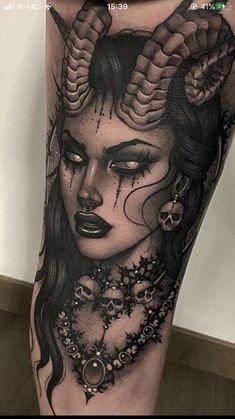 Dream Tattoos, Badass Tattoos, Cute Tattoos, Body Art Tattoos, Hand Tattoos, Tatoos, Demons Tattoo, Medusa Tattoo, Arm Tattoos Skulls